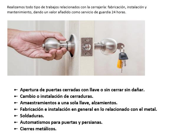 servicios de urgencia en cerrajeros picanya